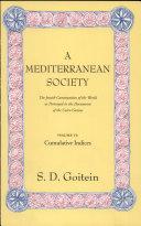 A Mediterranean Society  Volume VI