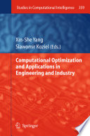 Computational Optimization and Applications in Engineering and Industry Book