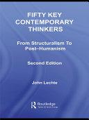 Fifty Key Contemporary Thinkers Pdf/ePub eBook