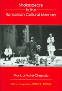 Shakespeare in the Romanian Cultural Memory Pdf/ePub eBook