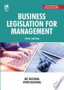 Business Legislation for Management  5e