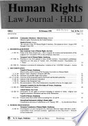 Human Rights Law Journal  : HRLJ. , Volume 14