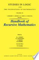 Recursive Model Theory
