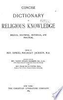 The Concise Dictionary of Religions Knowledge