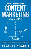 The One Page Content Marketing Blueprint PDF