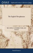 The English Theophrastus