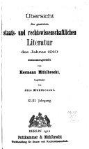 Allgemeine Bibliographie Der Staats  und Rechtswissenschaften Book PDF