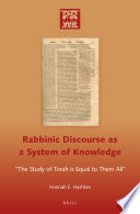 Rabbinic Discourse as a System of Knowledge Book