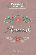 Ameerah Notebook Journal Personal Diary Personalized Name 120 Pages Lined (6x9 Inches) (15x23cm) ebook
