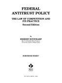 Federal Antitrust Policy