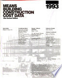 Building Construction Cost Data