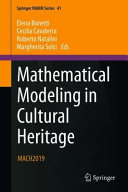 Mathematical Modeling in Cultural Heritage Book