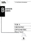Business Basics for a Growing Optometric Practice