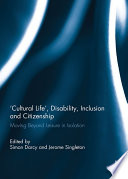 Cultural Life   Disability  Inclusion and Citizenship