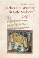 Pdf Relics and Writing in Late Medieval England Telecharger