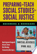 Preparing To Teach Social Studies For Social Justice Book PDF