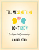 Pdf Tell Me Something I Don't Know: Dialogues in Epistemology Telecharger