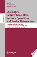 Challenges For Next Generation Network Operations And Service Management Book PDF