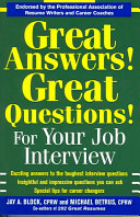 Great Answers  Great Questions  For Your Job Interview