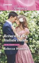 Return of Her Italian Duke Pdf/ePub eBook