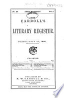 Carroll S Literary Register