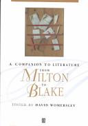 A Companion to Literature from Milton to Blake