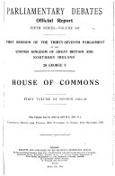 The Parliamentary Debates Official Report