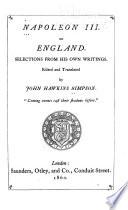 Napoleon III  on England