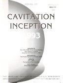 Cavitation Inception  1993