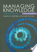 Managing Knowledge Book PDF