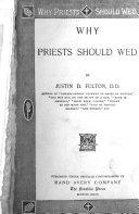 Why Priests Should Wed