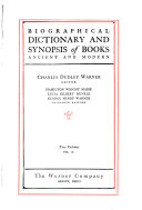 Biographical Dictionary and Synopsis of Books