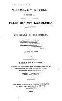Tales of my landlord  second series  The heart of Mid Lothian