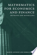 Mathematics for Economics and Finance Book