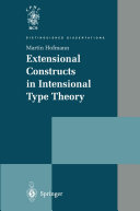 Extensional Constructs in Intensional Type Theory