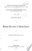 Contributions to American Educational History