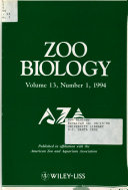 Zoo Biology Book