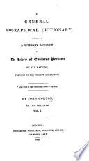 A General Biographical Dictionary Etc
