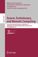 Pdf Swarm, Evolutionary, and Memetic Computing, Part II