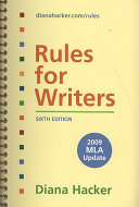 Rules For Writers With Tabs With 2009 Update Premium Web Site And E Book Book PDF