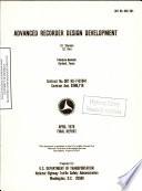 Advanced Recorder Design Development  Final Report