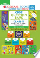 Oswaal CBSE Question Bank, Chapterwise & Topicwise, Class 11, Political Science, Reduced Syllabus (For 2021 Exam)