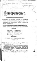 Independence  A Selection of Several Passages of Scripture