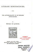 The Autobiography of an English Opium Eater