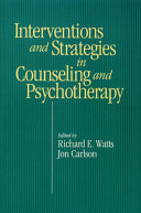 Intervention   Strategies in Counseling and Psychotherapy