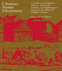 Chaucer Name Dictionary [Pdf/ePub] eBook