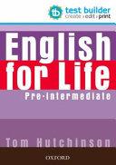 English for Life: Pre-intermediate: Test Builder DVD-ROM