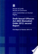 Draft Sexual Offences Act 2003 Remedial Order 2012 Second Report