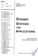 Dynamic Systems and Applications