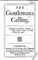 The Gentleman s Calling   By Richard Allestree   Book PDF